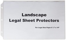 Legal Landscape Sheet Protectors For Legal Size Paper 10 In A Set Crystal Cle