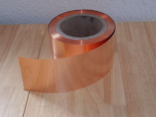 Kupferfolie 0,1 x 100 mm 1 Meter Kupferband Kupferblech