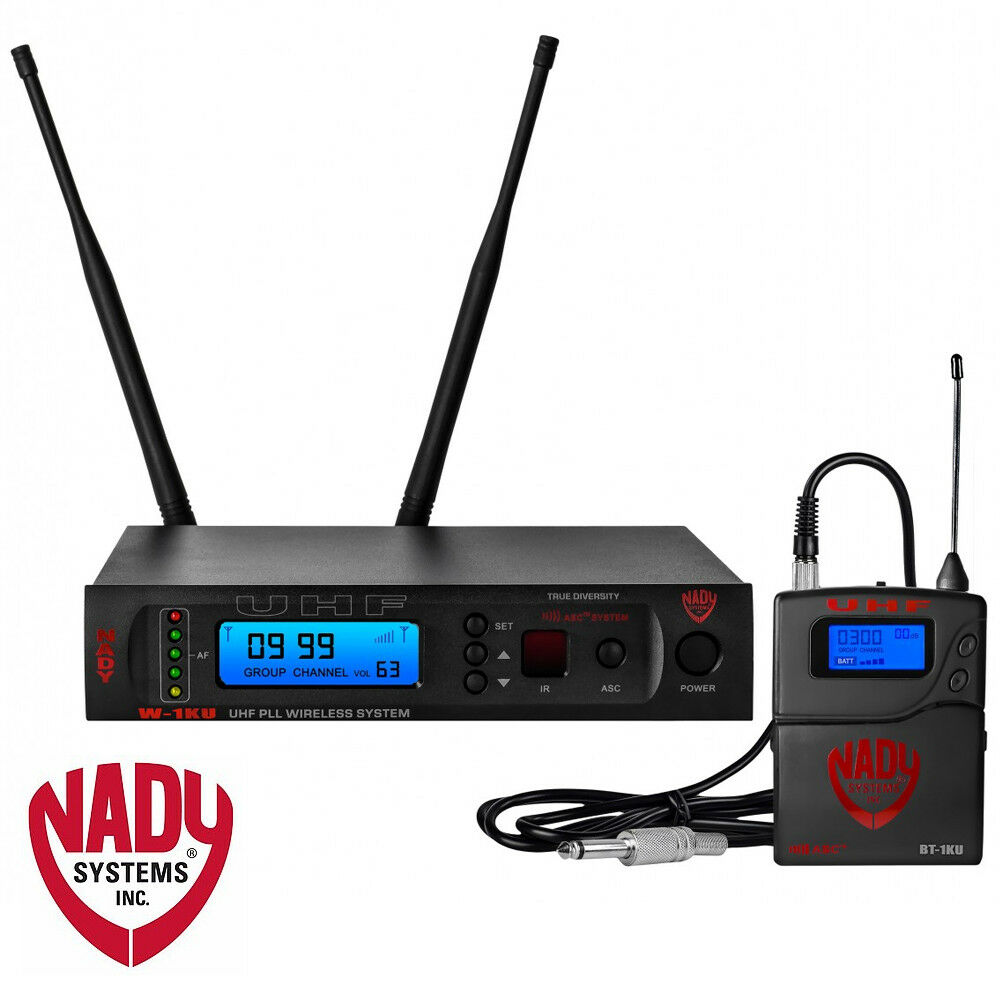 Nady W-1KU-GT-US True Diversity 1000-Channel Professional UHF Guitar Instrument