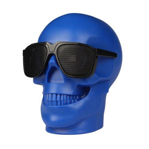 Portable Wireless Bluetooth Speaker Skull HiFi Bass Stereo Music Player NFC 15W