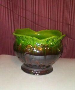 Vintage Antique McCoy Large Pottery Pedastil 1900 JARDINIERE  PLANTER Vase