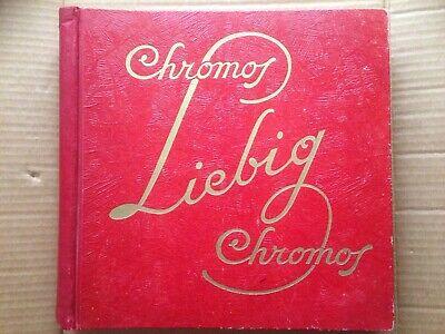 Album Chromos Liebig Rouge Complet 300 Chromos Beroemd Voor Geselecteerde Materialen, Nieuwe Ontwerpen, Prachtige Kleuren En Prachtige Afwerking