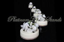 5 TIER CASCADE WEDDING CAKE STAND (STYLE R500-B)