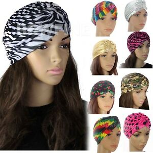 caa7366e2eabd Details about TURBAN Band Hat Indian Hijab Headwear Wrap Hair Loss Chemo  Bandana Fancy Dress