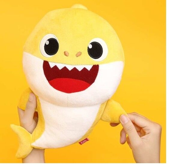 Pinkfong Shark Sound Doll Korean HANGUL Version For Baby/&Kids Yellow