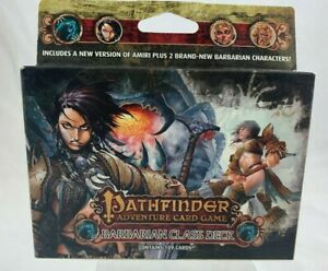 free shipping a few days away buy good Details about Pathfinder Adventure Card Game Barbarian Class Deck New Sealed
