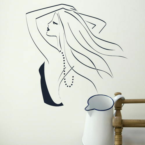 Hair Salon Wall Stickers Hairdressing Transfer Graphic Beauty Decor Stencil Art