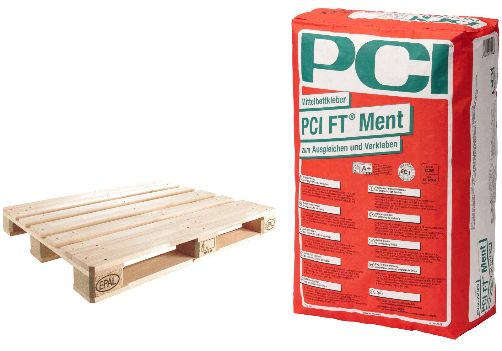PCI FT Ment 42 x 25 kg ersetzt Midiment für großformatige Platten Fliesen-Kleber