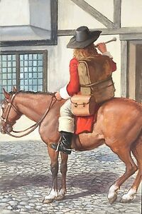 John-Berry-original-Ladybird-People-at-Work-The-Postman-picture-No-2-equestrian