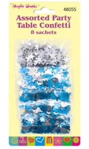 8 Sobres 56 gramos de Lentejuelas Estrellas//Mesa de fiesta lentejuelas Balloons Assorted Confeti