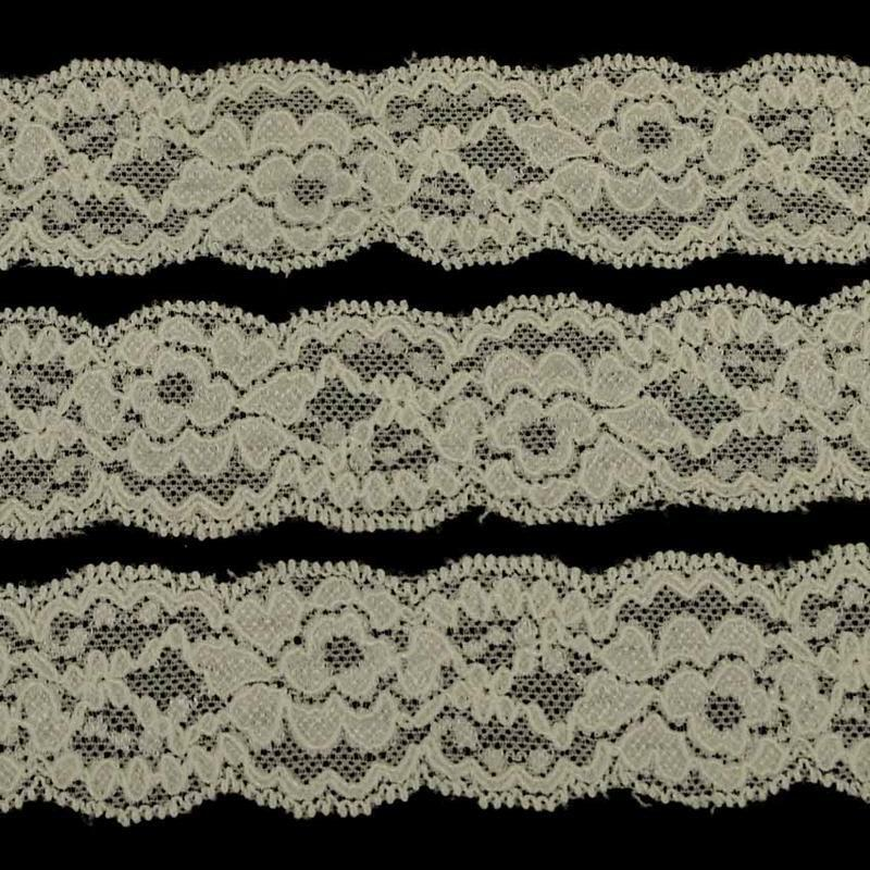 5m of 1cm//10mm Pretty Black or White Dainty Stretch Picot Lace LC68