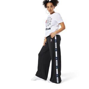reebok solid women's track pants