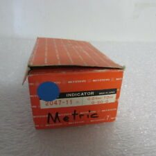 Mitutoyo Dial Indicator No 2047 11 Metric