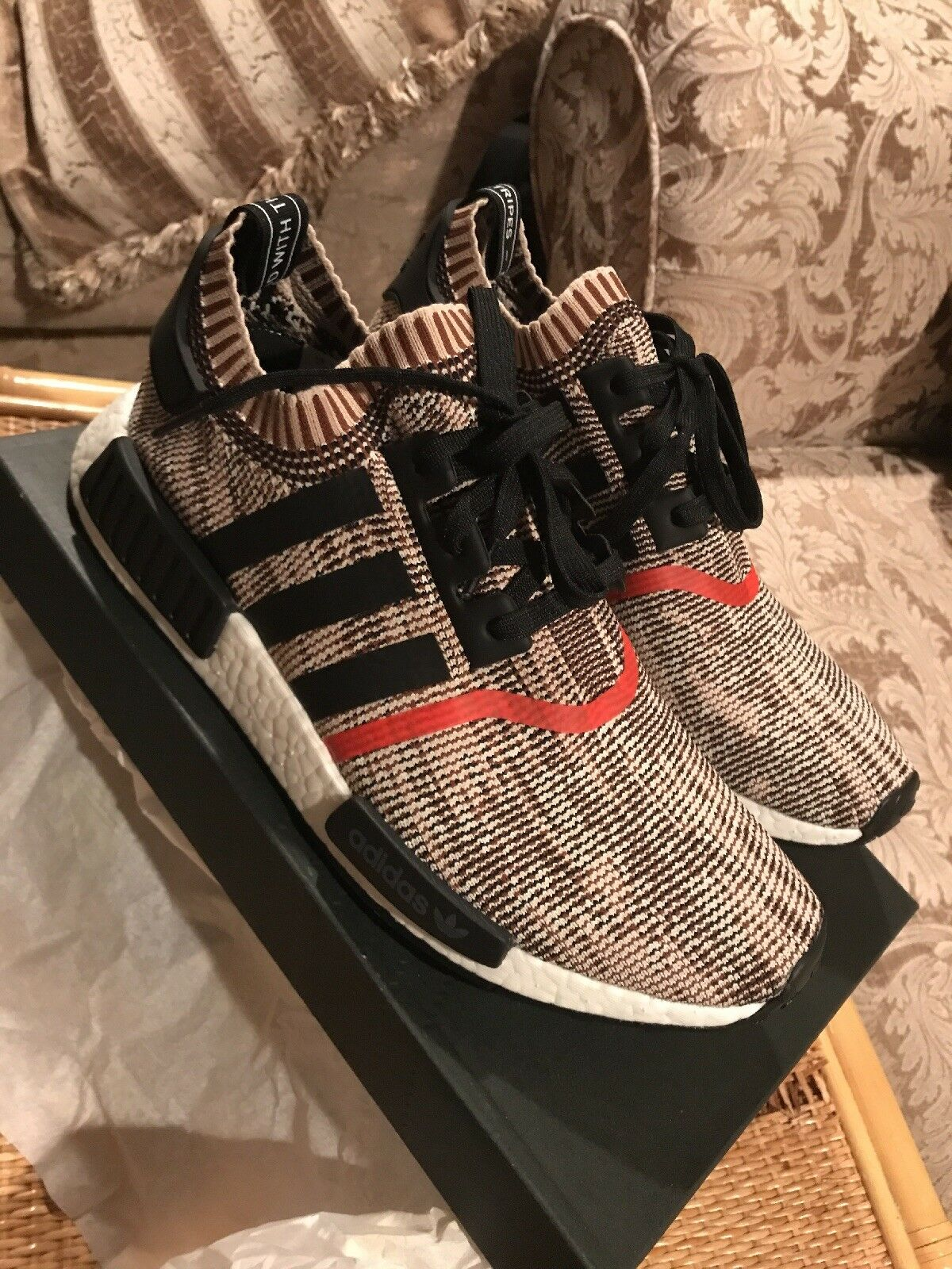 Adidas NMD_R1 Talc/Black AI Camo size 10 US Exclusive1/900 Pairs Very Limited