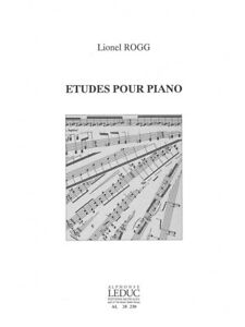 Details About Lionel Rogg Etudes Pour Piano Piano Solo Learn To Play Piano Sheet Music Book