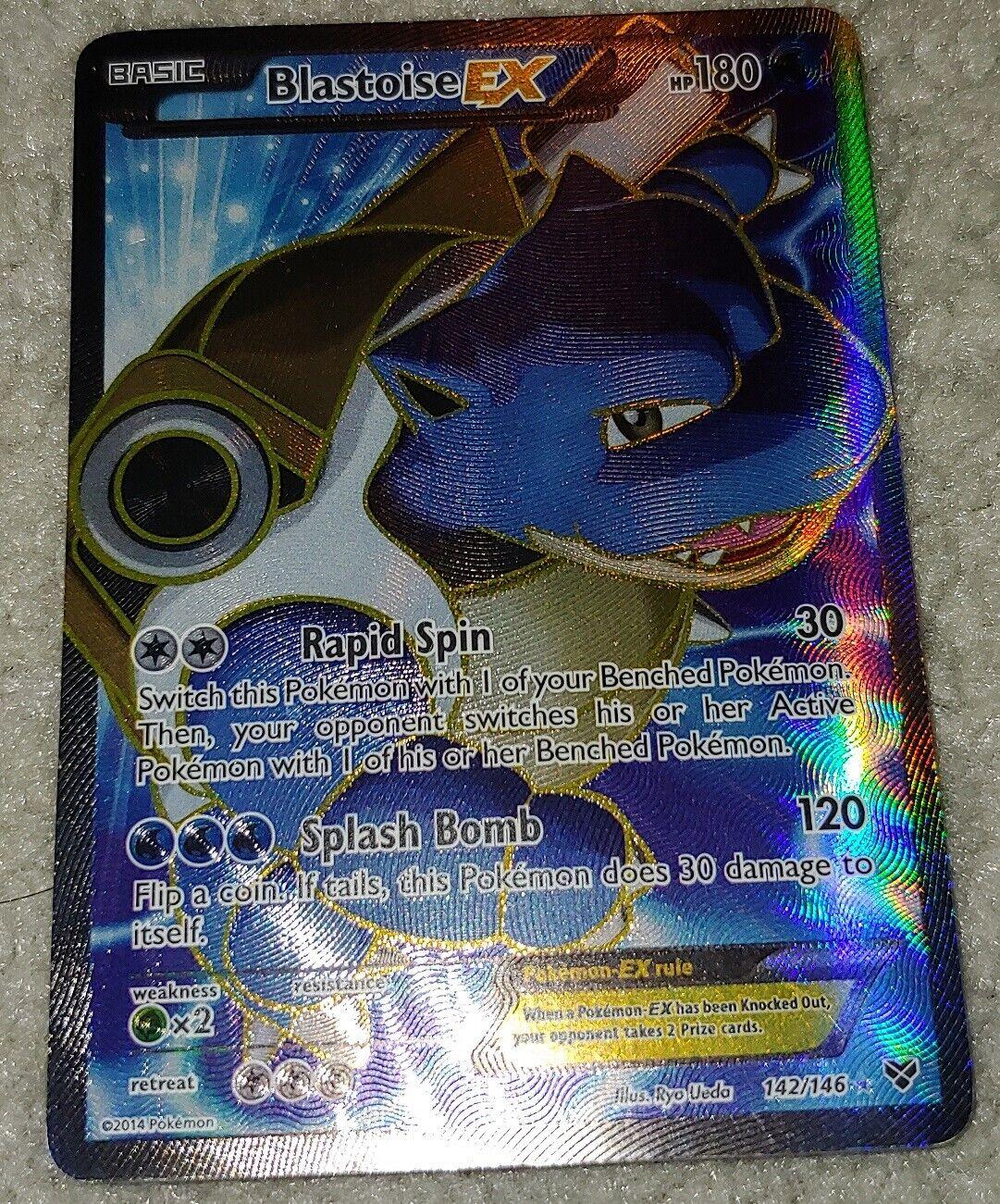 - BLASTOISE EX 142/146 Ultra Rare Star Holo Foil! FULL ART Pokemon