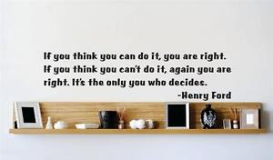 """Q233 Sticker Decor22/""""x7/"""" ** Henry Ford Famous Quote **Vinyl Wall Decal"""