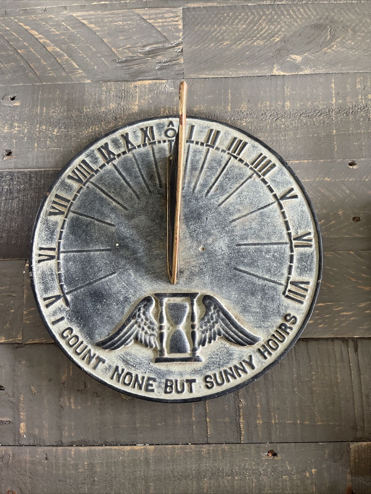 Virginia Metal Crafters CAST IRON SUN DIAL 23-2 I Count None But Sunny Hours