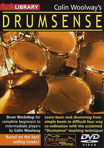 LICK-LIBRARY-DRUMSENSE-Drums-Learn-To-Play-Beginners-Basic-Easy-Lesson-Rock-DVD