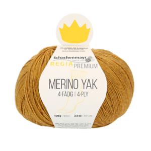 Regia Premium Merino Yak 100g Sockenwolle  4 fädig Farbe 07504 gold meliert