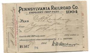 Pennsylvania-Railroad-Co-Employee-039-s-Trip-Pass-1904