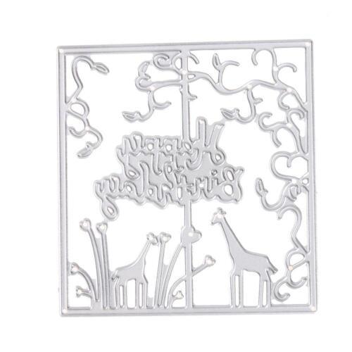 Metal Stanzformen Die Stencil Cutting Dies Scrapbooking Karte Stanzschablone DIY