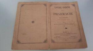 Epistola-Bambino-Sul-La-Farmacia-A-Leconte-1865-Lib-Bailliere-Parigi-Pin-ABE