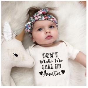 Ne pas me faire appeler ma tante Drôle Mignon Bébé Grow Sleepsuit Cadeau Bébés Vêtements