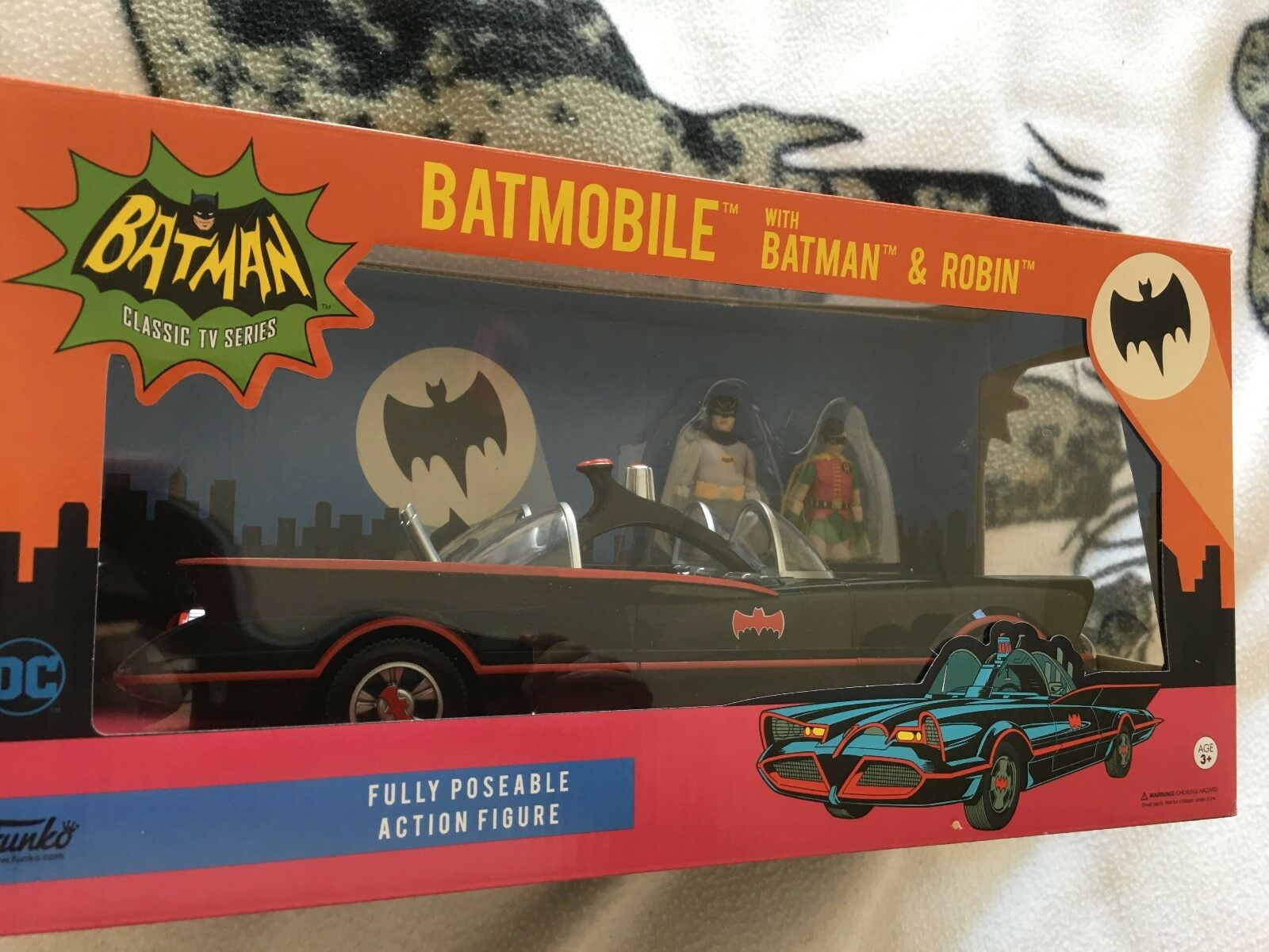 Batman classic series  funko Batmobile model car  and batman and robin  figures