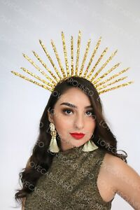 Virgin Mary Costume Bridal Crown Silver Halo Headpiece Get It In Any Color Crown Headband 5 Spike Tiara