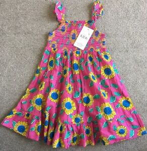BNWT-Marks-And-Spencer-Kids-Pink-Mix-Smocked-Summer-Dress-Size-4-5-Years