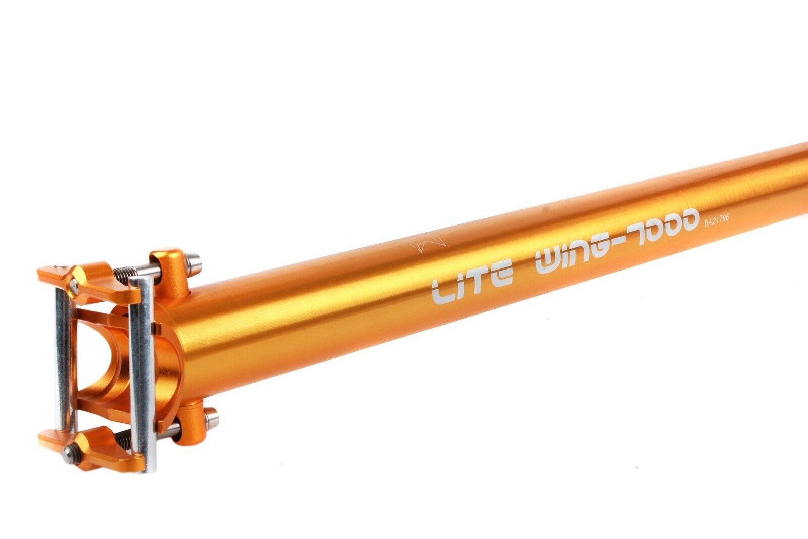 KCNC KCNC KCNC Lite ala Bici Bicicleta Tija de sillín para Dahon plegable pequeña 33.9mm 550mm Dorado e02a09