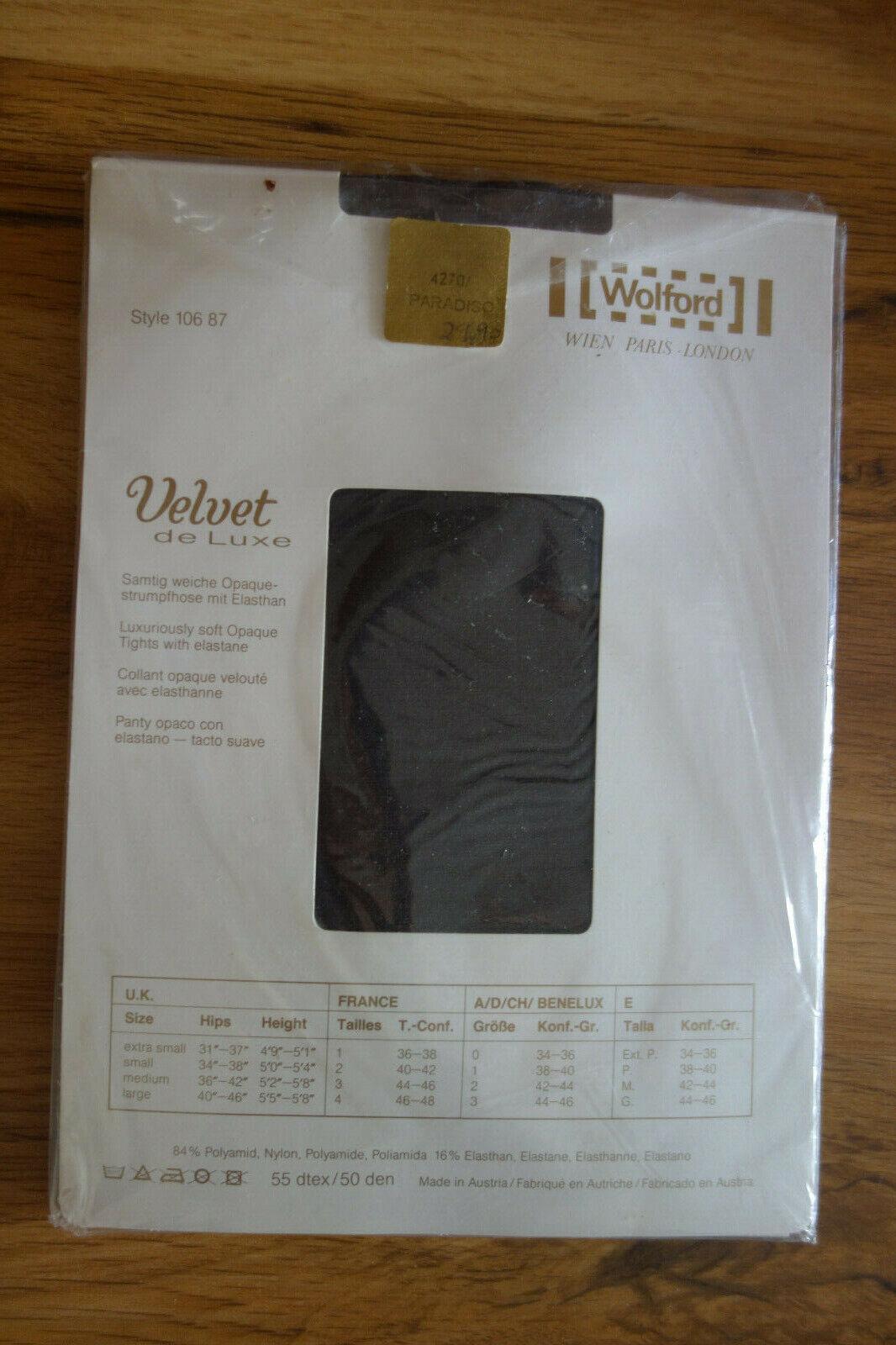 Strumpfhose WOLFORD Luxury Opaques Velvet de Luxe Gr: 42-44 Schwarz NEU!