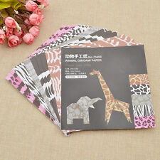 1 Set Square Origami Paper DIY Animal Children Handmade Paper Craft Multicolor