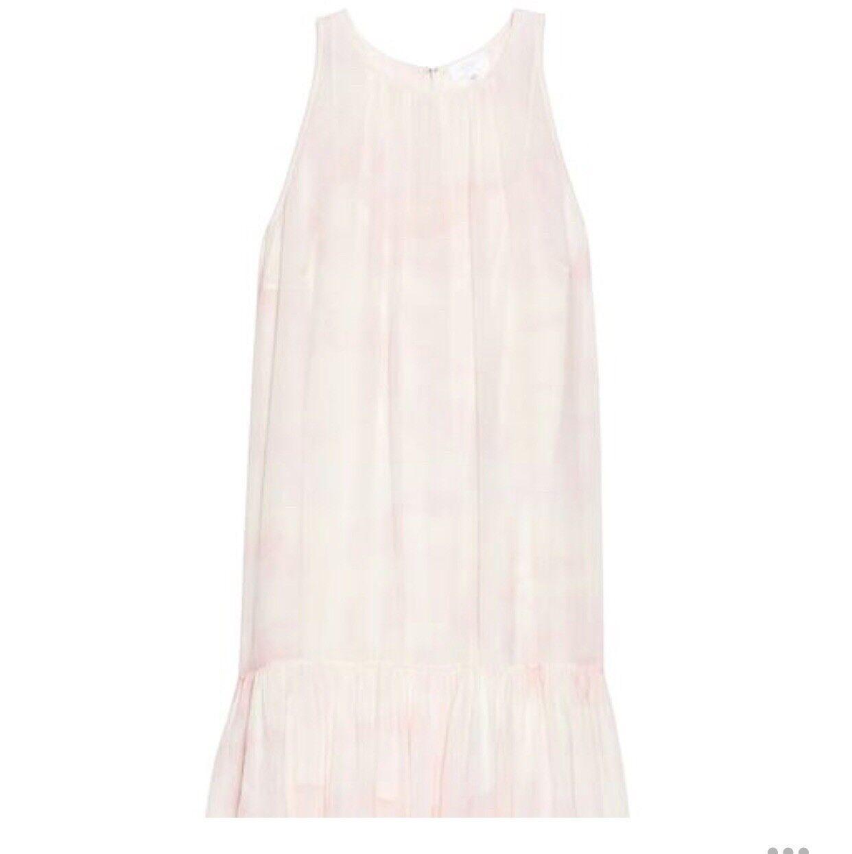 Wilfred Aritzia Dress XS 100% Silk Drop-waist Sleeveless Sonnet Keyhole Pink