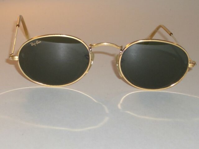 9fec0de7899 VINTAGE B L RAY-BAN W0976 G15 GOLD-PLATED ARISTA WIRE OVAL AVIATOR  SUNGLASSES
