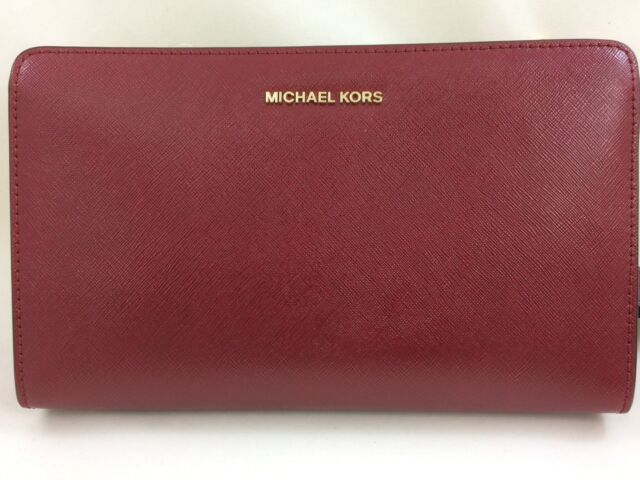 84db61fd2bcd New Authentic Michael Kors MK Jet Set Travel Large Convertible Leather  Crossbody