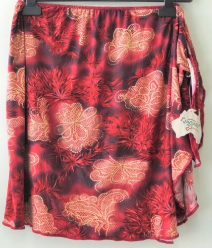 Wrap Sarong  Fashion Lady Beautiful Maroon// Red and Gold Floral motifs