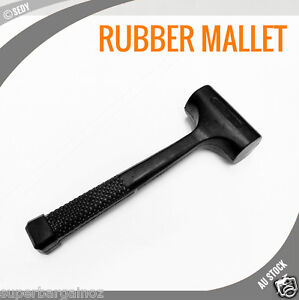 NEW-24-OZ-RUBBER-HAMMER-SOFT-FACE-HEAVY-BLOW-MALLET-NON-SLIP-1-5LB-AUTO-REPAIR