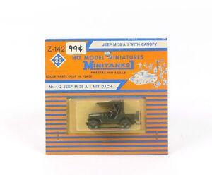 Roco-HO-Model-Minitures-Minitanks-Z-142-Jeep-M38-A1-With-Canopy