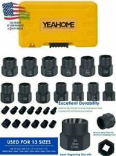 YEAHOME Impact Bolt /& Lug Nut Remover Set 13 Pieces Extractor Socket Set Automotive Tools Bolt Extractor Nut Removal Tool