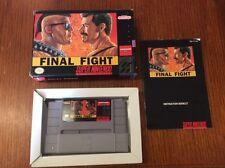 Final Fight SNES Super Nintendo 100% Complete in Box Nice Shape!