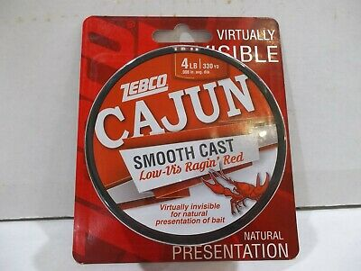 Zebco Cajun Smooth Cast fishing line 8 lb test 330 yards ragin red color NIP