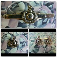 Royal Marines Lapel / Cuff Links / Tie Bar Gift Set (light) RM