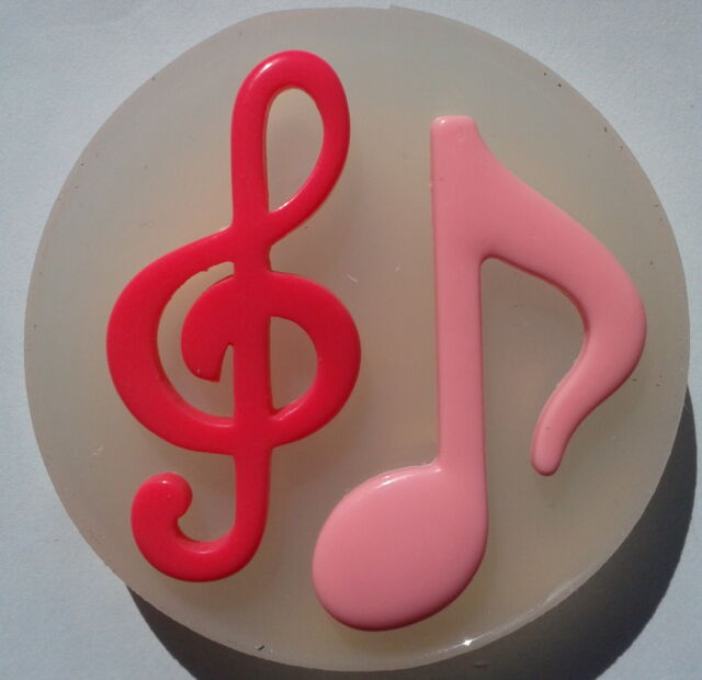 BIG MUSIC NOTES  -  SILICONE MOLD - SUGARCRAFT, CLAY, RESIN, CUPCAKE mould