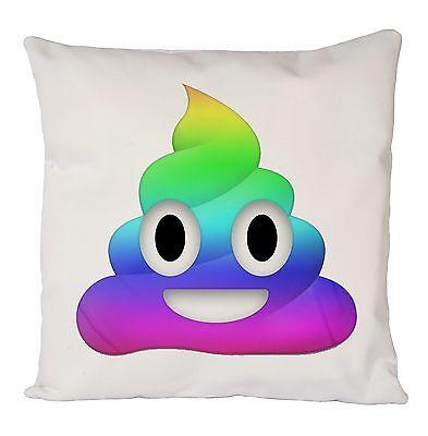 Funny Poop Poo Emoji Rainbow Housse de coussin taie d/'oreiller Idéal Cadeau