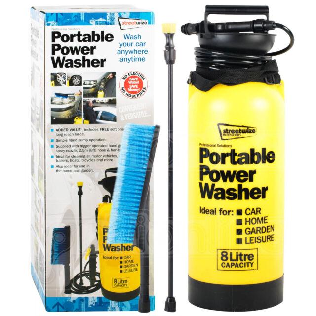 Portable Pressure Power Washer Pump Spray Jet Car Wash Cleaner Brush 8 Litre