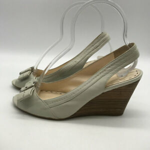 Coach-Grey-Slingback-Wedges-Size-7-5B