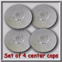 Set 4 Chrome Cadillac Deville Wheel Center Caps 1995-1999 Replica Hubcaps