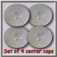 Set 4 Chrome Cadillac Deville Wheel Center Caps 2000-2008 Replica Hubcaps